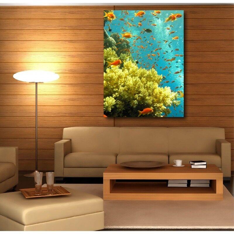 Canvas Fabric Deco Rectangle greenical Small Fish 19239235