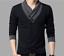 Fashion-Men-039-s-Casual-V-Neck-Cotton-Tops-Blouse-Slim-Short-Long-Sleeve-T-Shirt thumbnail 1