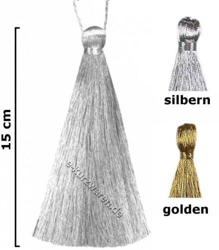 Lana,//raffhalter 15 cm con cordel 5cm lurex sustancia plata oro brillante decoración