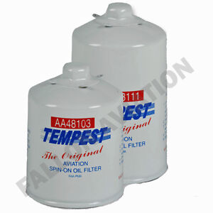 AA48103-2 SPIN EZ Tempest Aircraft Oil Filter Aviation Spin-On Oil Filter