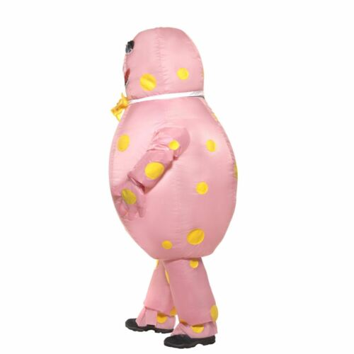 Adult Mens Polka Dot Mr Blobby Inflatable Fancy Dress Stag Do Costume Football
