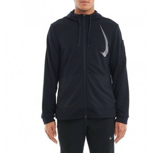 Nike Mens Hooded Dry Flex Training Full Zip Jacket Size L Large - Black for  sale online  578d4a005