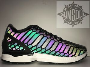 0c1c1f936dce Image is loading ADIDAS-ZX-FLUX-XENO-REFLECTIVE-BLACK-WHITE-B24441-
