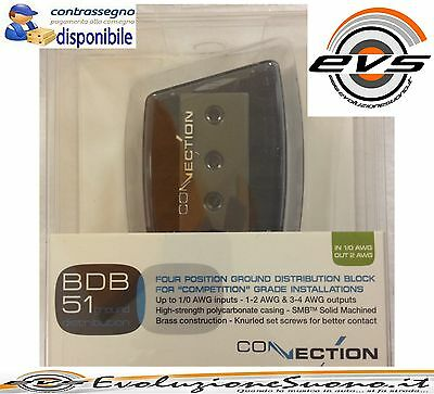 Connection BDB 51 by Audison Distributore alimentazione MASSA 4 Uscite NEW NERO
