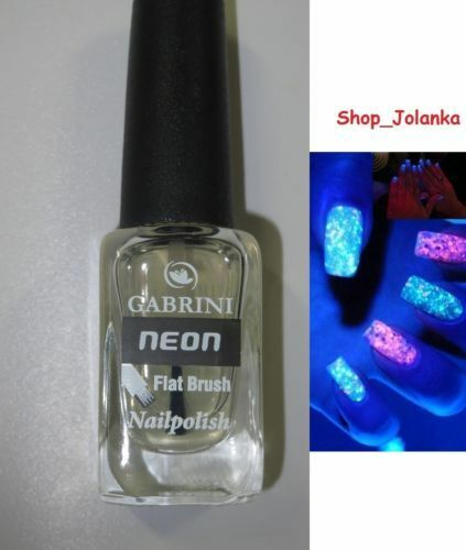 GABRINI Nagellack nail-polish Glow In The Dark Leuchtet transparent UV REACTIVE
