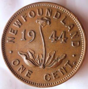 1944-C-NEWFOUNDLAND-CENT-KEY-Great-Low-Mintage-Coin-Canada-Bin-Z