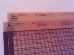 John Deere Parts Catalog >> Details About John Deere Parts Catalog 830 Tractor Microfiche Fiche Manual