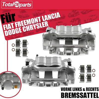 2x Bremssättel mit Halter vorne für Fiat Freemont Lancia Voyager Dodge Chrysler