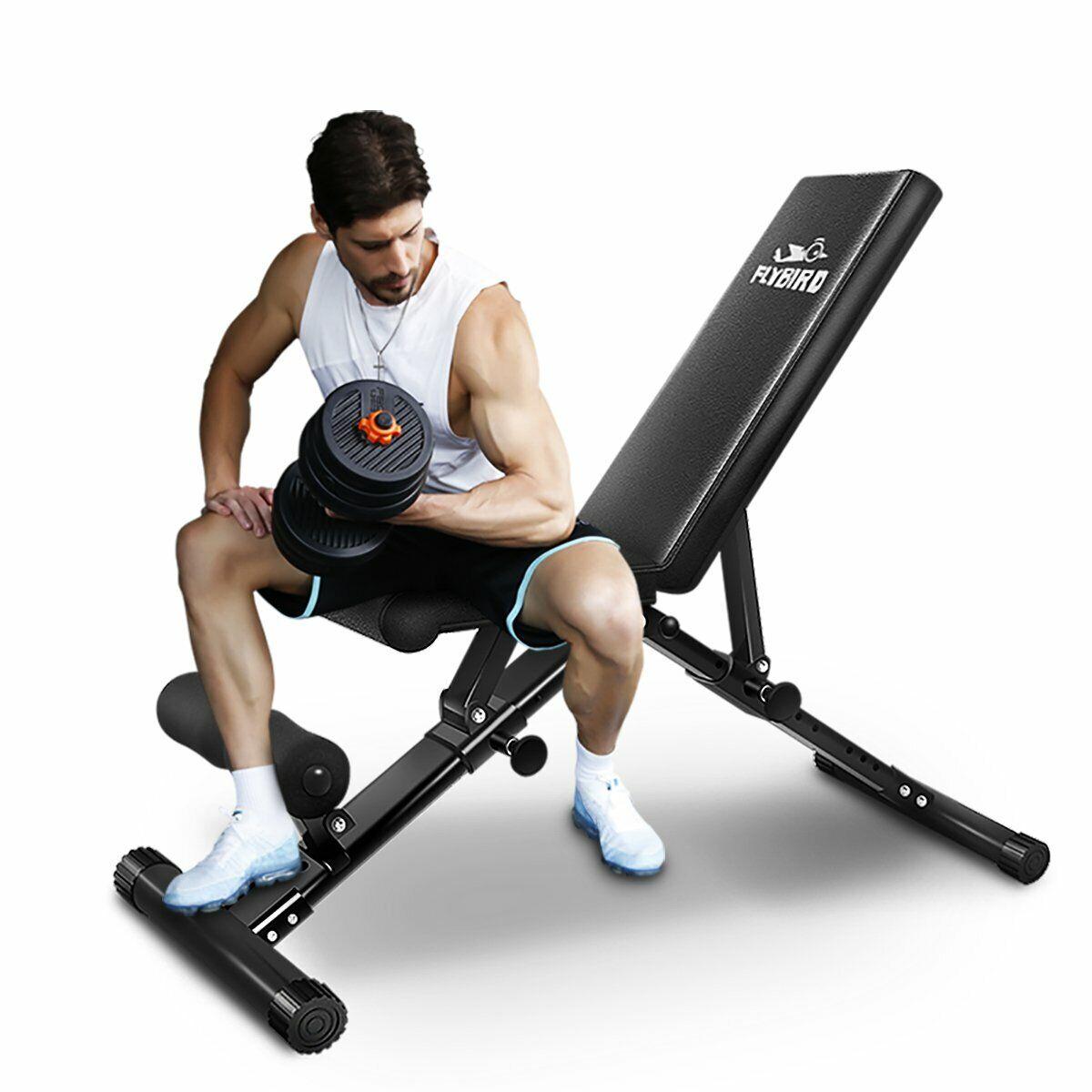 FliegenBIRD Einstellbare Bench,Nutzgewicht Bench für Full Body Workout- Multi-Purpo