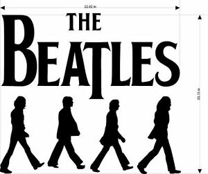 THE BEATLES ABBEY ROAD DECAL 2 STICKER WALL ART 20 COLORS