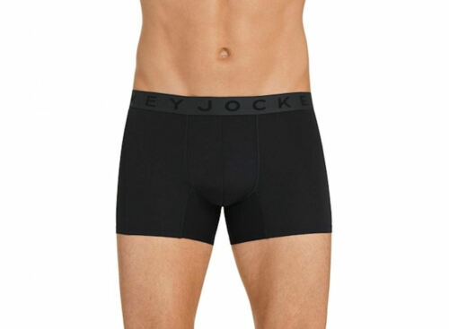 Jockey International Mens 24//7 BLK Black Trunk Brief Size L New