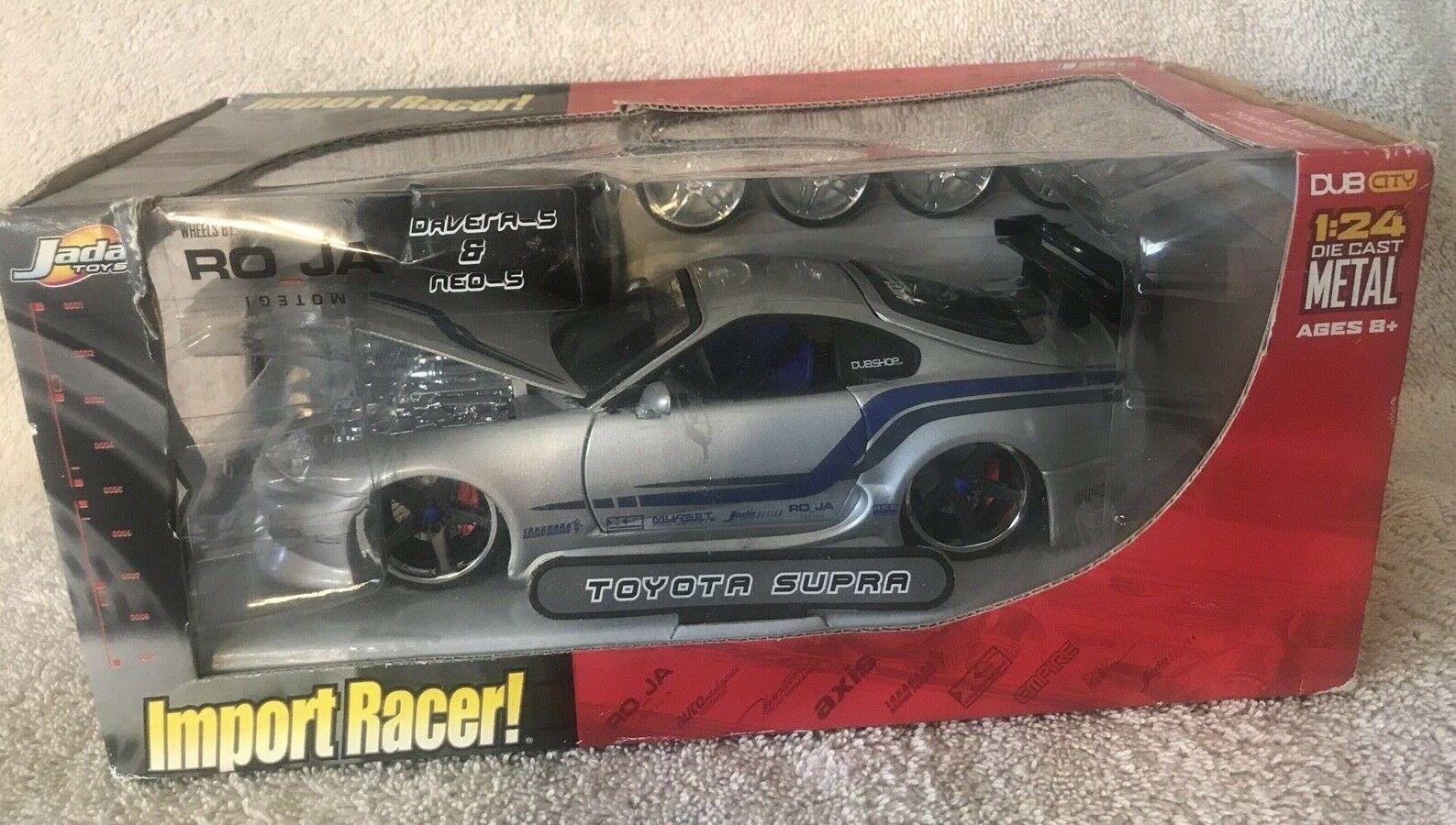 Import Racer Toyota Supra Dub City 1 24 Diecast Metal Jada Toys Silver NIB VHTF