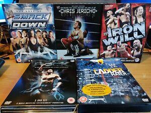 WWE-DVD-Bundle-Lot-Chris-Jericho-The-Rock-Smackdown-Ladder-Elimination-Chamber