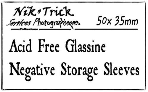la mitad del precio de Kenro! Mangas de almacenamiento negativo de cristal 35mm-Paquete de 50 ~