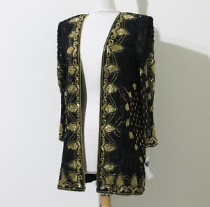 Jasdee Vintage Jacket Hand Work Bead & Sequin On Silk Style 3011