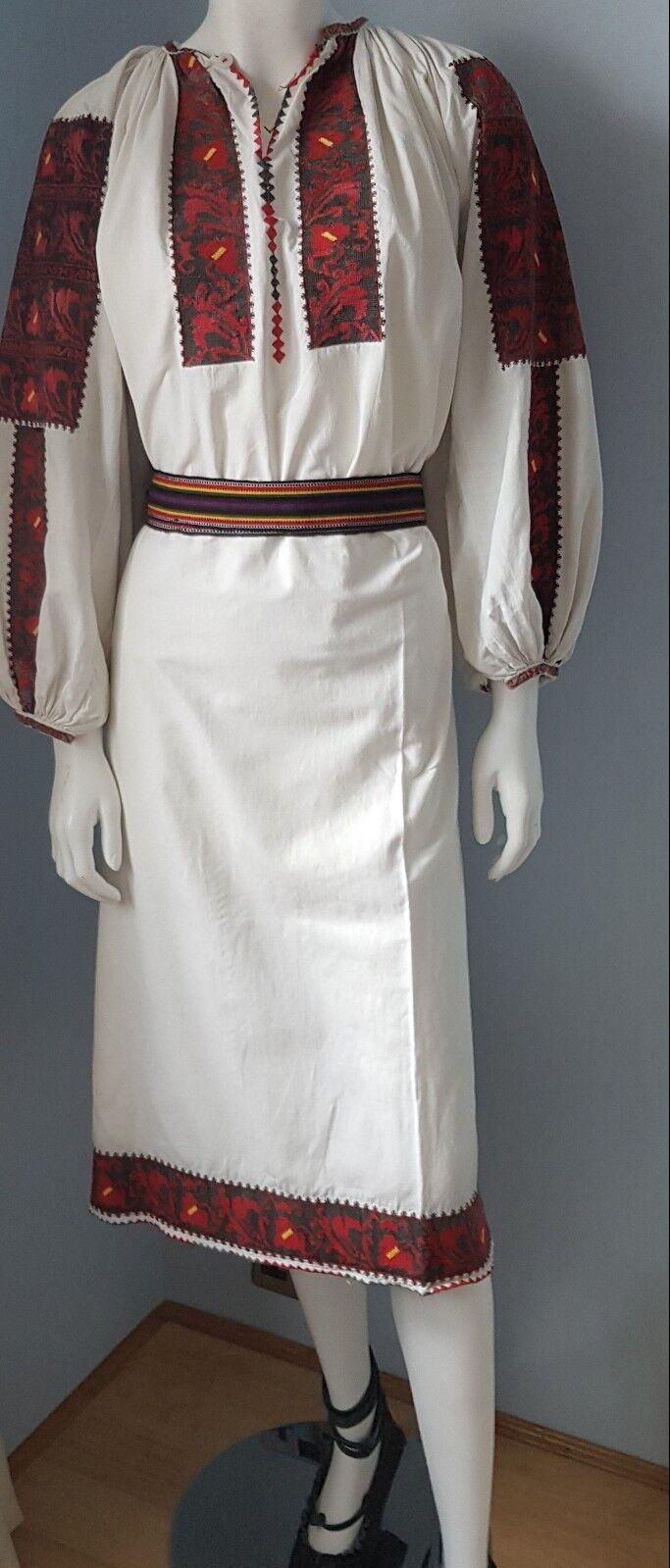 Vintage Mano Bordadas conjunto rumano + Cinturón   ordenar ahora