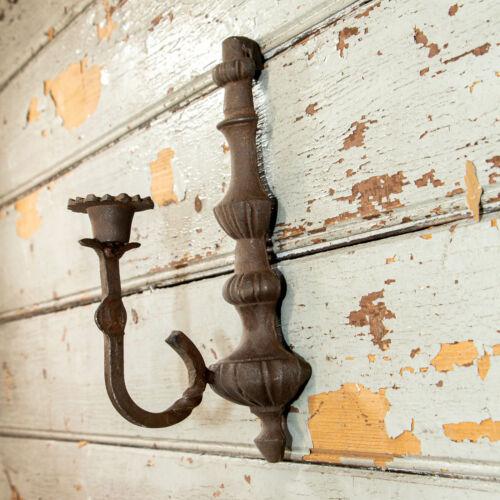 Gusseisen Burgfackel rostig Kerzenhalter für eine Kerze Dekoration