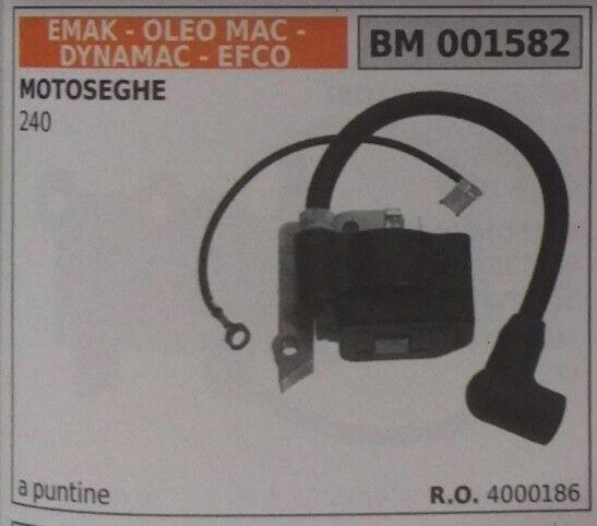 4000186 BOBINA ELECTRÓNICA MOTOSIERRA OLEOMAC EFCO EMAK DYNAMAC 240