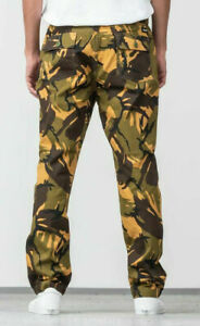 Huf-Worldwide-Footwear-Skate-Shoes-Pant-Pants-Hose-Neo-Camo-Easy-Olive-in-M