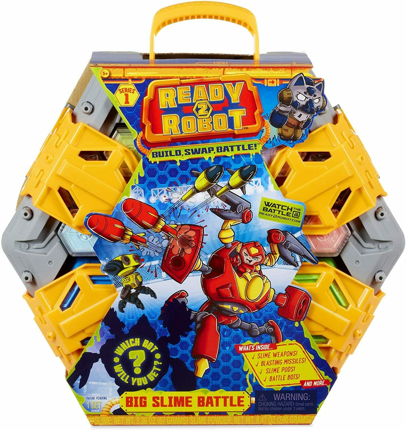 Battle Weapons Ready2Robot Big Slime Battle with 10 Hidden Chambers /& 40