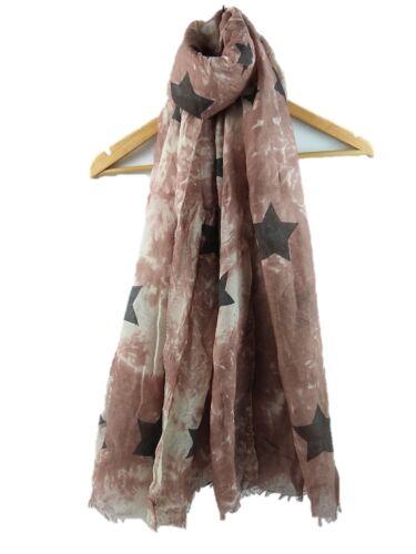Star Print Summer Scarf Sarong Oversized Soft ladies 100/% COTTON