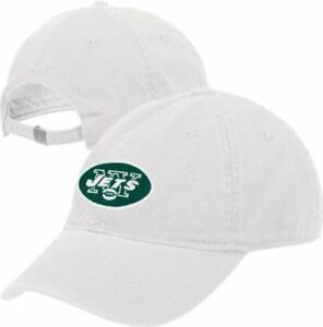 New York Jets NFL Reebok White Slouch Relaxed Hat Cap Adult Unisex ... f393bb6aa