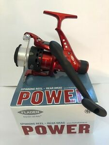 Fladen-Power-30-REAR-DRAG-Spinning-Mulinelli-Rosso-Fisso-Bobina-amp-Linea-Reel
