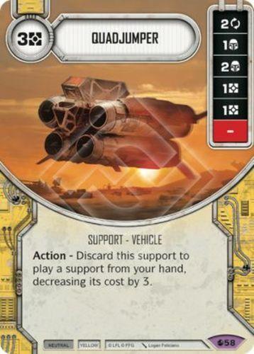 x1 Quadjumper 58 Rare Star Wars Destiny Spirit of Rebellion M//NM