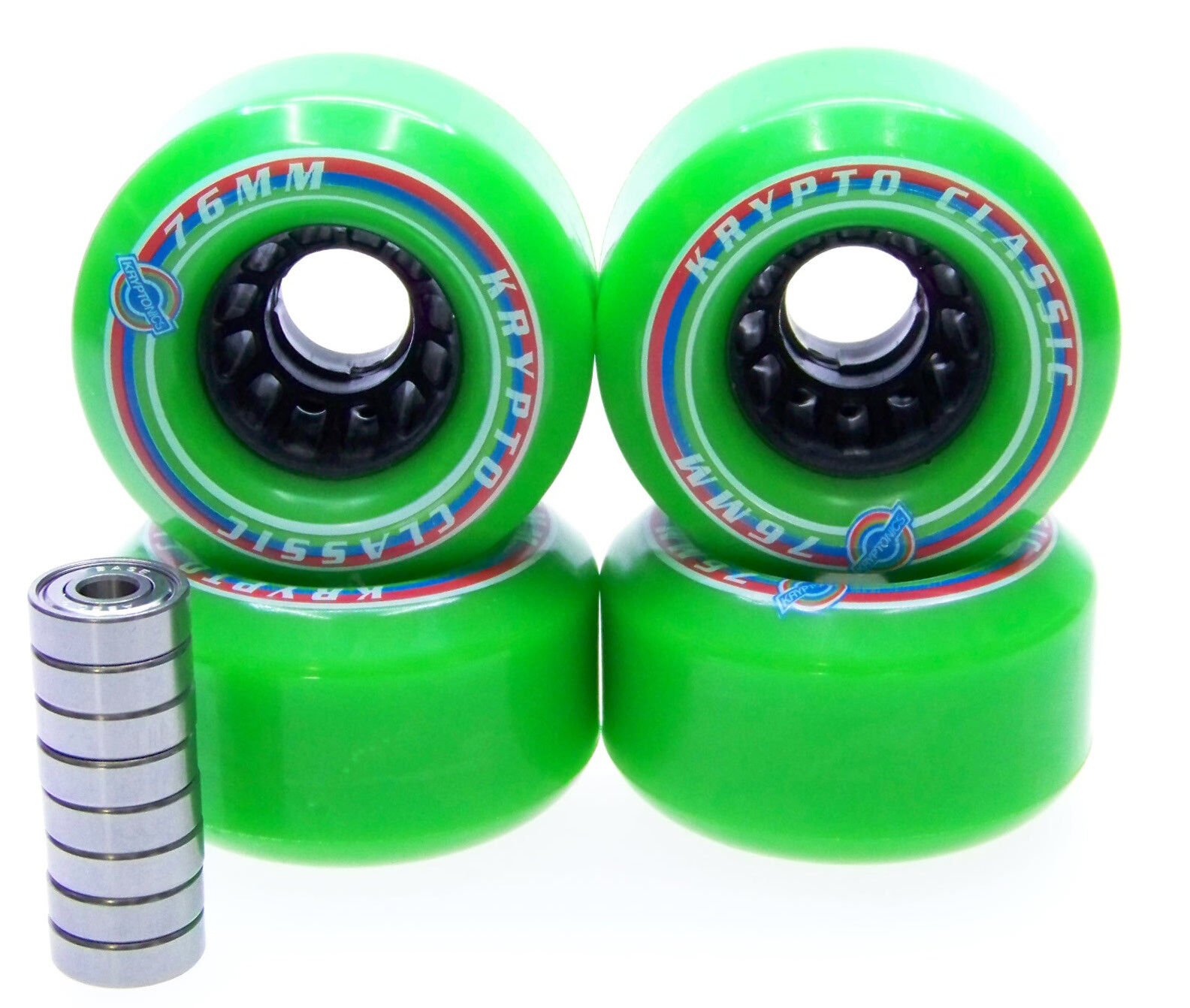 Longboard Rollers KRYPTONICS CLASSIC 2.99in  82A ABEC Bearing Set Replacement  healthy