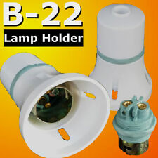 B22 Lamp Holder Bayonet Cap BC Bulb Light Fitting Accessories 240V BLACK
