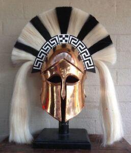 Medieval-Wearable-Greek-Corinthian-Helmet-Free-Leather-Liner-Knight-Helm-DMH87