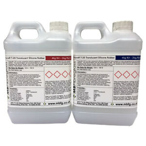 Details about Polycraft T20 Translucent Addition Cure Silicone Rubber Shore  A20 4kg Kit (T-20)