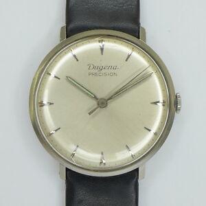 Details zu DUGENA Precision Herren Armbanduhr Stahl Handaufzug 1960er Jahre Klassiker !