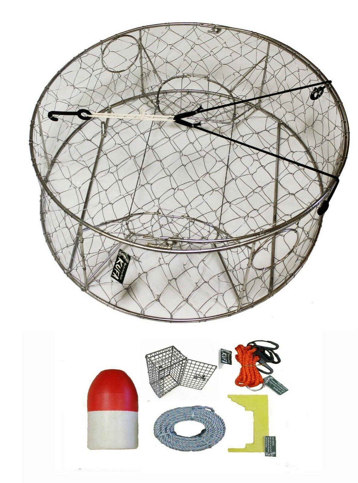 KUFA Stainless Steel Crab Trap mit Zinkanode & Zubehör Kit (CT100 CEC1 ZIN1)