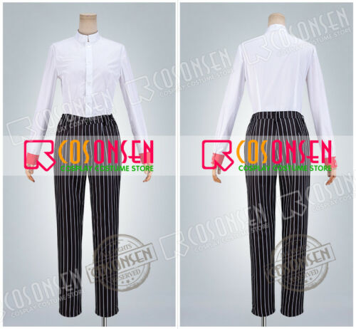Fate//Grand Order Antonio Salieri Stage 2 Black Stripe Suit FGO Cosplay Costume