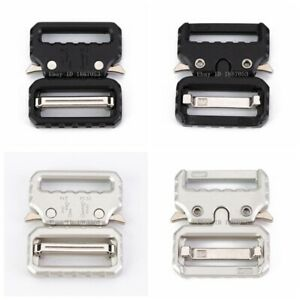 1-5-034-1-034-Quick-Release-Black-Silver-Belt-Buckle-Metal-Strap-Webbing-Bags-Buckle