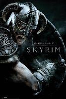 Elder Scrolls V: Skyrim Attack 24x36 Video Game Poster Bethesda
