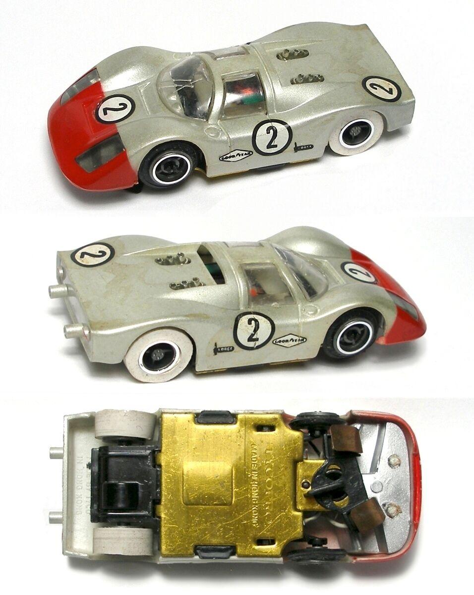 1972 TYCO TycoPro Porsche 908 Long Nose ljusED HO Slot Bil 8820 RareToSeeClean