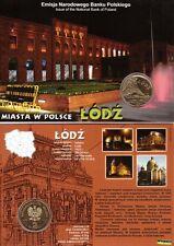 ■■■ Poland 2011 2 Zlote Polish Cities ŁÓDŹ Lodz Manufaktura in Blister UNC ■■■
