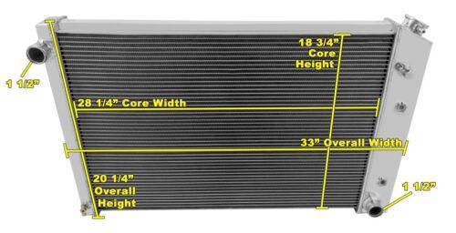 GMC Truck 3 Row DR Radiator 19 x 28-1//4 inch Core