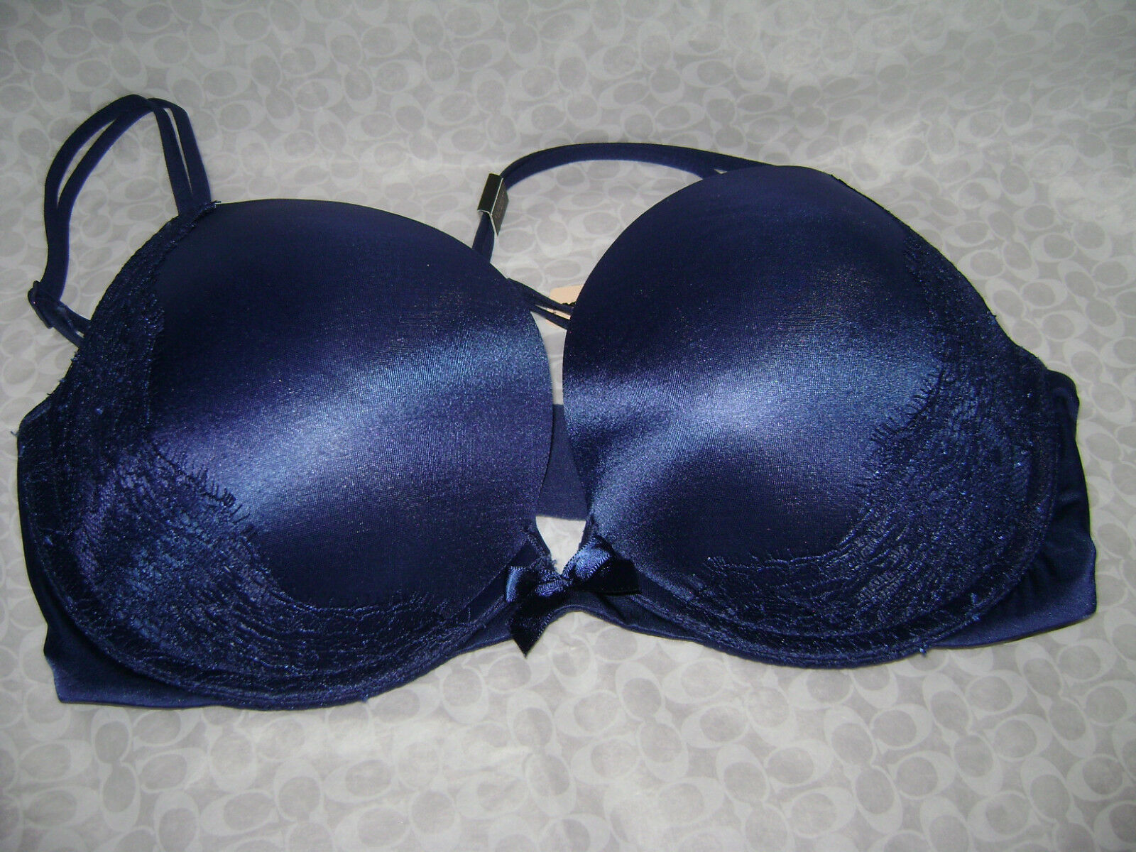 NWT VICTORIA'S SECRET VERY SEXY PUSH UP BRA 32DD ROYAL blueE SOLD OUT