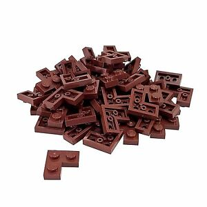 50 NEW LEGO Plate Round 1 x 1 Straight Side BRICKS Reddish Brown