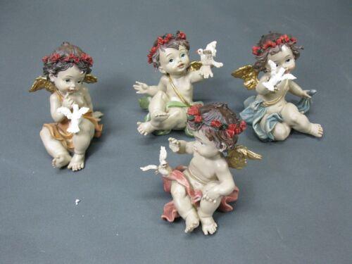 Konvolut von 4 Engel Figuren  Engelgruppe 12 cm Putto