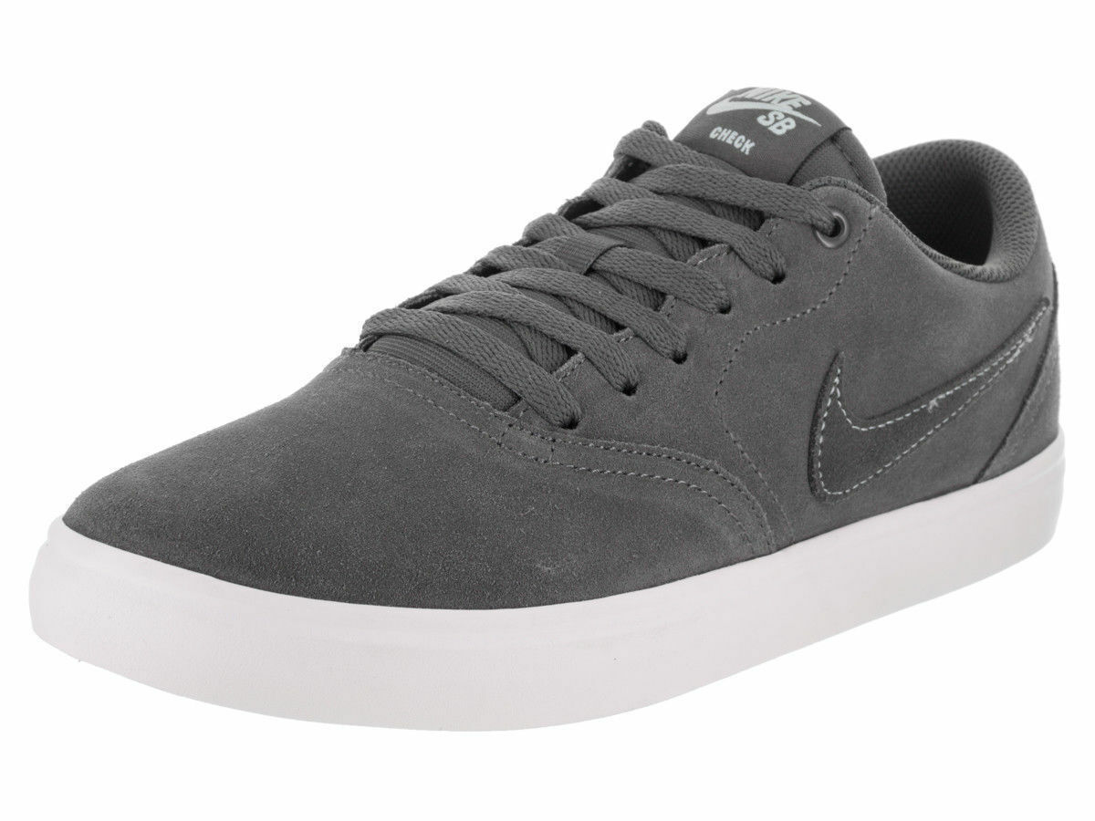 NIKE SB CHECK SOLAR LOW SUEDE SKATEBOARD MEN SHOES GREY 843895-004 SIZE 8 NEW