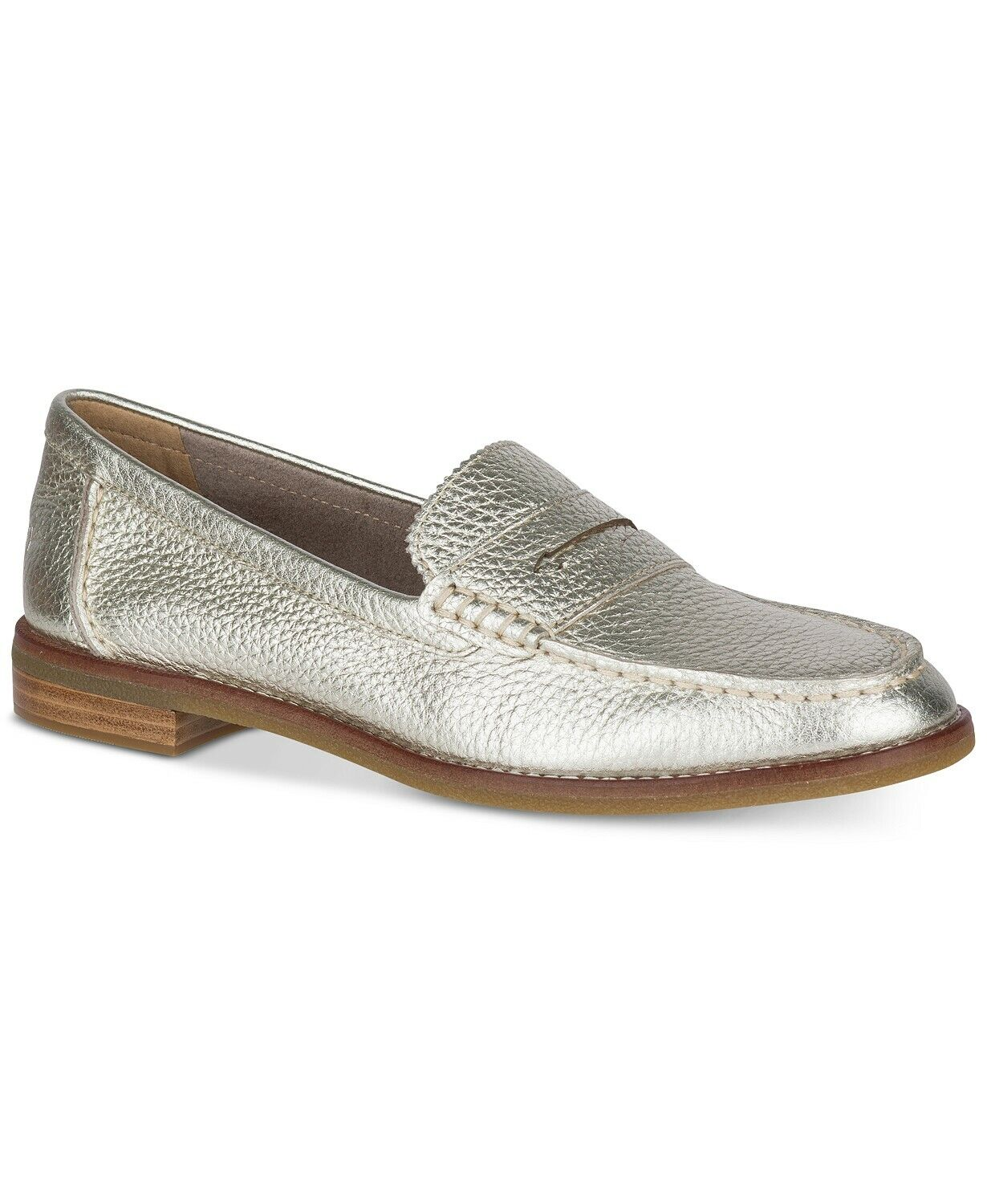 Sperry Women's Seaport Penny Memory Foam Loafers Platinum