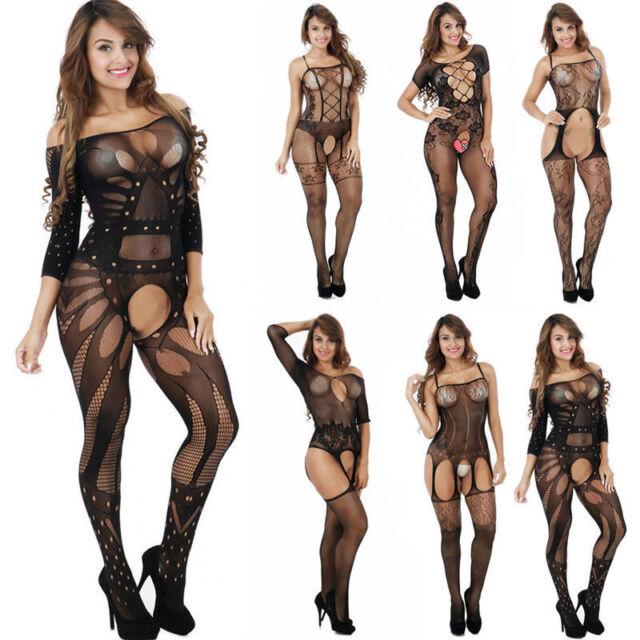 Women Sexy Lingerie Bodysuit Nightwear Underwear Babydoll bodystocking Crotchles