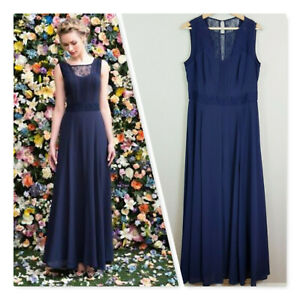 [ REVIEW ] Womens Maxi Navy Dress w/ Lace Detail | Size AU 16 or US 12