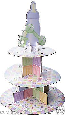 BabyShower Bottle Baby Feet Cupcake Treat Stand 1ct Centerpiece Party Supplies