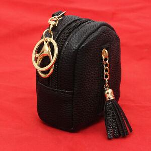 Bag-Wallet-Leather-Tassel-Pendant-Key-Chain-Coin-Purse-Handbag-Keyring-6-Color