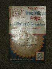 "Vintage 1955 Pillsbury's Grand National Prize Winning Old Recipes 5"" X 8"